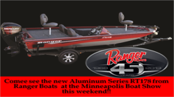 See Ranger Boats 45th Anniversary Edition Boats this weekend at Minneapolis Boat Show