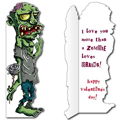 Lifesize Zombie Valentine Card Latest Venture in Giant Card Market – Zombie Valentines Cards