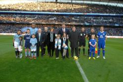 ICP Networks Ltd MD Matt Archer (centre) at the launch of NetworkSupermarket.com at the Etihad in January.