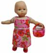 Bitty Baby Valentine Dress & Purse