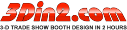 Get a free trade show booth design consultation and free CAD renderings at 3Din2.com