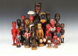 A grouping of Baule Spirit Spouses