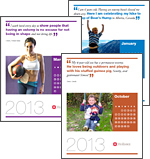 Collage of 2013 World Ostomy Day Calendar pages