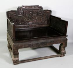Antique Zitan wooden throne.