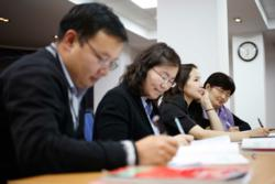 Students at the American University of Mongolia