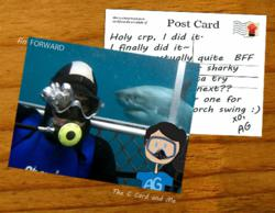 The C Card and Me and Fin Forward - shark diving encounters for cancer survivors