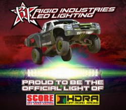 Rigid Industries is the Official light of SCORE and HDRA