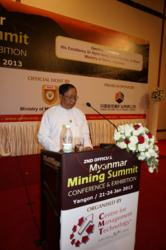 Opening address by His Excellency Dr. Myint Aung, Union Minister of Mines at 2nd Myanmar Mining Summit