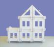 Build a gabled roof house with the Mod House.
