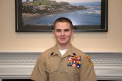 SgtMaj Pierce Gilman named 'Young Marine of the Year' for Division 1 by the Young Marines.
