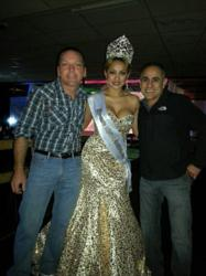 Elegant Designs' Armando Ramirez and Don Holaway with Miss Latina Beauty 2012 Nelly Ibanez.