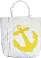 Yellow Anchor Recycled Sailcloth Bag