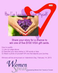 WomenSpeak contest to Award Five $100 prizes
