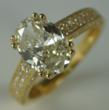 Oval Cut Diamond Ring Side & Top