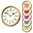The Brass Cased Roco Verre French Numbers Wall Clock