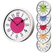 The White Cased Roco Verre French Numbers Wall Clock