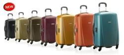hardside suitcase with makrolon