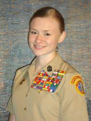The Young Marines names Dakota Richter 'Young Marine of the Year' for Divison 2.