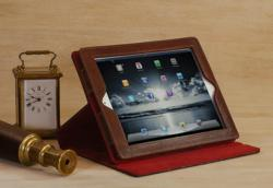 iPad Case in Vintage Leather Bound Book Style