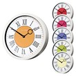 The Roco Verre Modern Vintage White Roman Wall Clocks