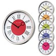 The Roco Verre Modern Vintage Polished Roman Wall Clocks