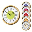 The Roco Verre Modern Vintage Roman Brass Wall Clocks