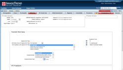Screenshot: A TQIP process measure form in ImageTrend Patient Registry