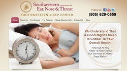 Southwestern Sleep Center Website