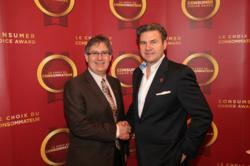 (left to right) SecurTek CEO Barry Rogers and Consumer Choice Award President Marcel Sbrollini
