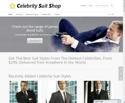 The new launch Celebrity Suit Shop - providing high quality celebrity inspired suits.