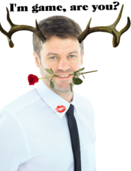 Horndog Sample Image - Man with Antlers