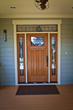 Therma-Tru Fiber-Classic Mahogany entry door in Craftsman style on Centennial Home at MainStreet America.
