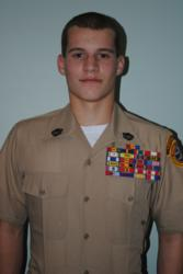 The Young Marines names Austin Cobb 'Young Marine of the Year' for Divison 3.