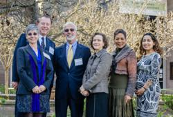 Financial Literacy and College Persistence conference speakers (left to right): Joyce Serido, Lewis Mandell, Vincent Tinto, Rebecca Macieira-Kaufmann, Valerie Coleman Morris, and Jenny Flores