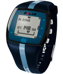 polar ft4, blue, heart rate monitor