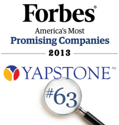 YapStone Ranks on Forbes' America's Most Promising Companies list