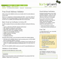 Byteplant Expands its Capacities for Batch Email Address Validation and the Online API