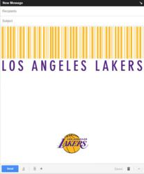"MeebleMail Email template ""Barcode"" for the LA Lakers. $1.99"