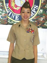 The Young Marines names Shana Perez 'Young Marine of the Year' for Division 4.