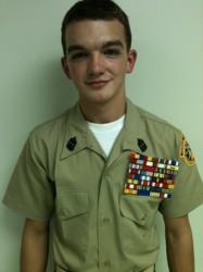 The Young Marines names Corin McKee 'Young Marine of the Year' for Divison 5.