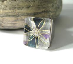 Boldly Poignant Poinsettia Ring by BKD Signature