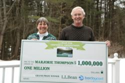L.L.Bean Visa Centennial Sweepstakes winner Marjorie Thompson