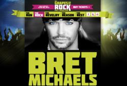 Bret Michaels to Headline Grapes of Rock Half Marathon in Sonoma, June 2013