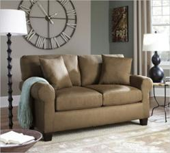 SOFAB Lad 1204 Loveseat in Brown Fabric
