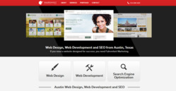 Austin Web design Fahrenheit Marketing designed this website