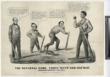 "•	A Currier & Ives print with the first identified reference to baseball as the ""National Game"" depicting Lincoln as the winning player"