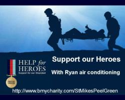 Ryan Air Conditioning Spares Support Help for Heroes