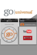 Image of the Streaming Video feature screen in the Go Universal app