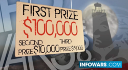 $100,00 grand prize winner; $10,000 second place; $5,000 third place