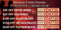 Valentine's Day Ring & Heart Jewelry Specials by TungstenWorld.com